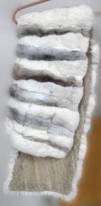 Шарф из шиншиллы редких окрасов