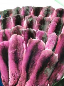 Набор покрашенных шкур - розово - черный
